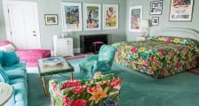 Esther Williams Suite with bed and living room furniture