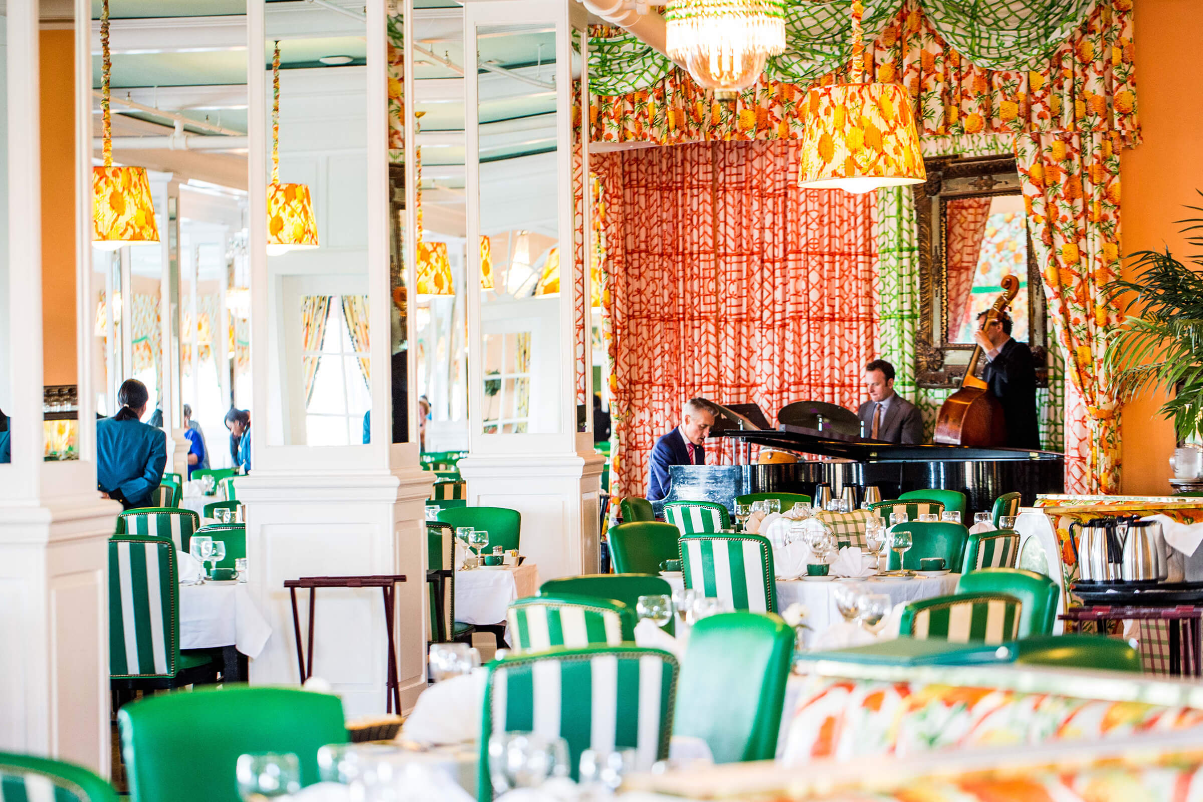 Main dining room with live music