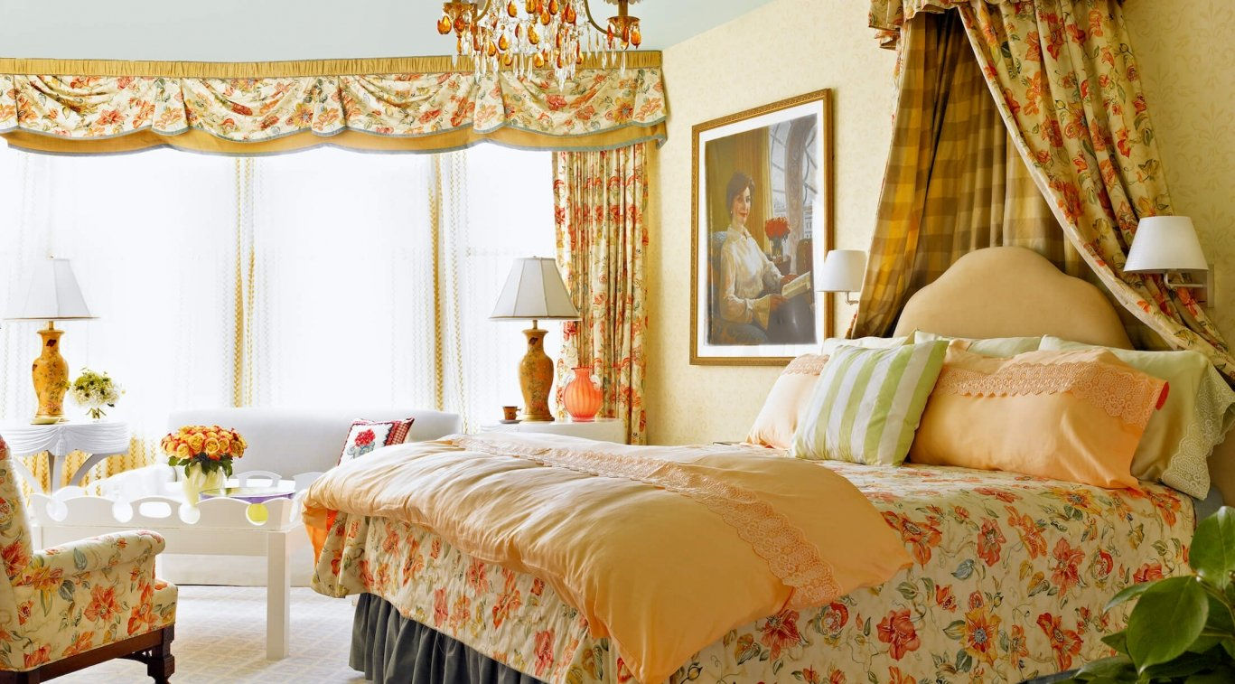 Suite with king bed and lots of natural light