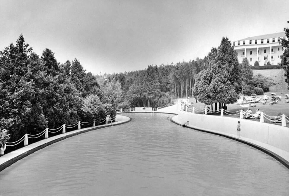 Black and White photo of the pool