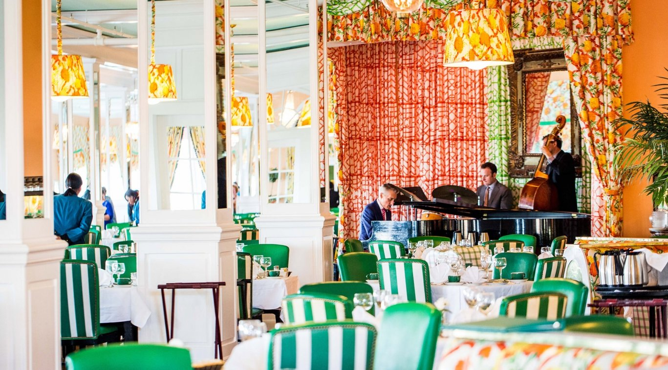 A live band playing in the Grand Dining Room