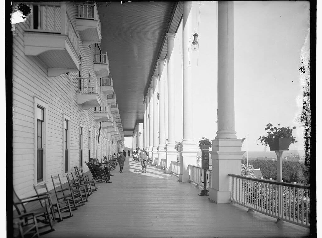 Front Porch Library of Congress black and white photo