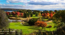 The golf course in the fall