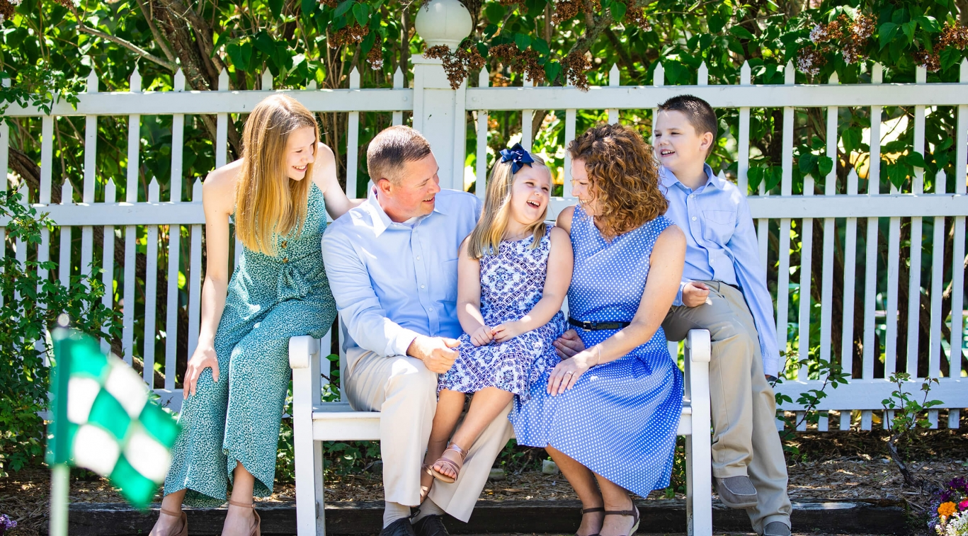 Family with kids portrait